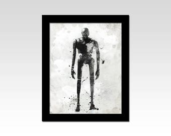 Star Wars Rogue One inspired K2SO Droid abstract print