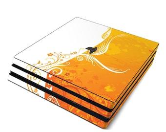 Sony PS4 Pro Skin Kit - Orange Crush - Sticker Decal Wrap