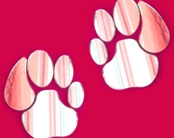 Pair of Lion Paw Print Mirrors - 4 Sizes Available