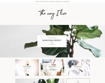 "WordPress Template - ""The Way I Live"" 