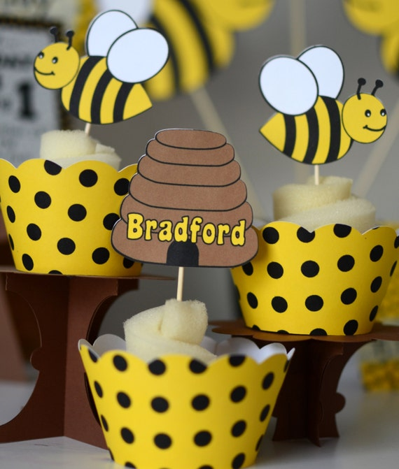 BUMBLE BEE Decorations Door SIGN Honey Bee Party