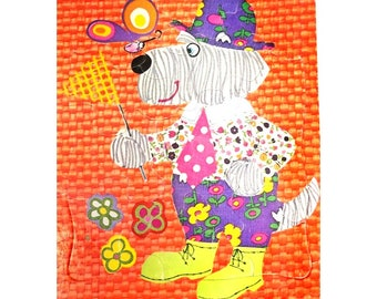 dog jigsaw puzzle - vintage puzzle decor -Retro Children's jigsaw puzzle -vintage child's puzzle - Title  Dog Catcher - 1972 puzzle - # 3