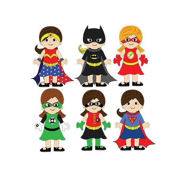 Girl Superhero Superhero Clip Art Digital Clipart Png