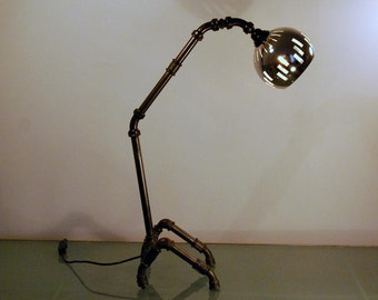 Zoomorphic table lamp Industrial Steampunk style.