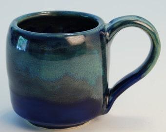 Green and Blue Handmade Stoneware Mug