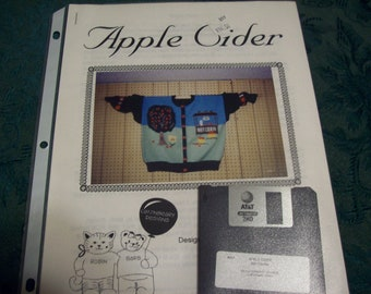 Machine Knitting Designs for Electronic Knitting Machines, Apple Cider by Catznbeary Designs