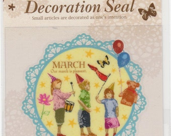 Children Stickers - Large Decoration Seal - Mind Wave - Reference F346