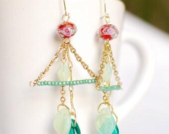 Swing flower - Earrings