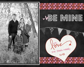 Chalkboard Valentine -  Photo Card digital file