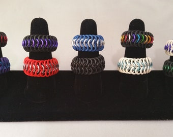 Stretchy Chainmaille Ring - Waterproof - 6in1 weave