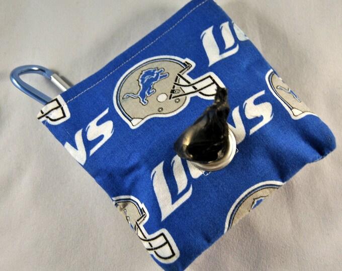 Detriot Lions Poop Bag Pouch