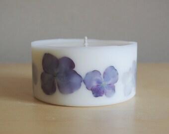 Hydrangea Soy Wax Pillar Candle (Small)