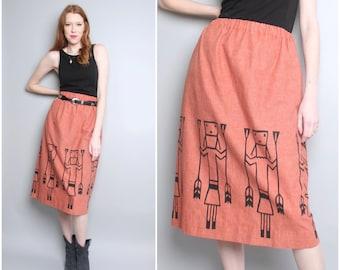 Vintage Navajo Skirt / Native American Ethnic Tribal / Medium-Large