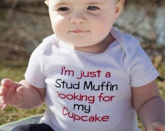 Little Stud Muffin Shirt or Baby Bodysuit
