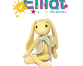 Crochet/Amigurumi pattern toy - Elliot the bunny