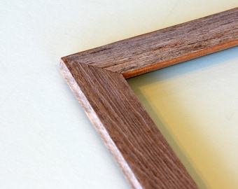 """Rustic Natural Reclaimed Cedar Picture Frame - Choose your medium frame size: 8x8, 7x9, 8x10, 9x9, 8x12, 8.5x11 or A4 8.3 x 11.7"""""""