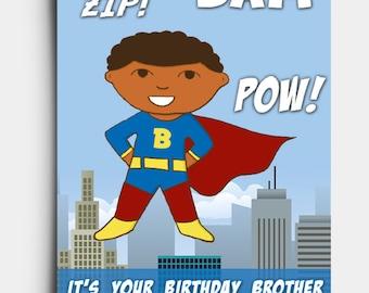 Super Brother - Birthday Card