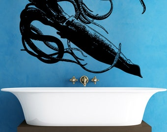 Vinyl Wall Decal Sticker Giant Squid 5336m