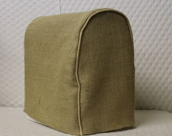 Natural Burlap KitchenAid Mixer Cover