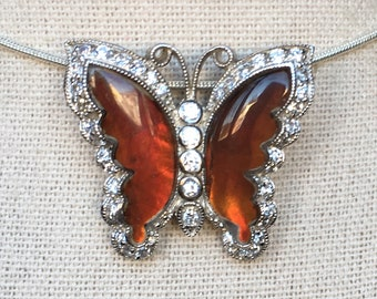 "Ammolite ""Butterflies are Free"" Pendant"