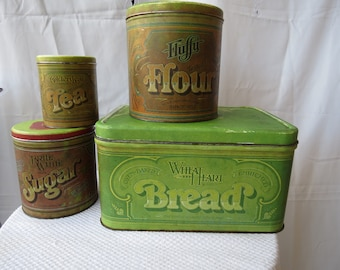 Set of 4 Ballanoff Home Products Company Tins