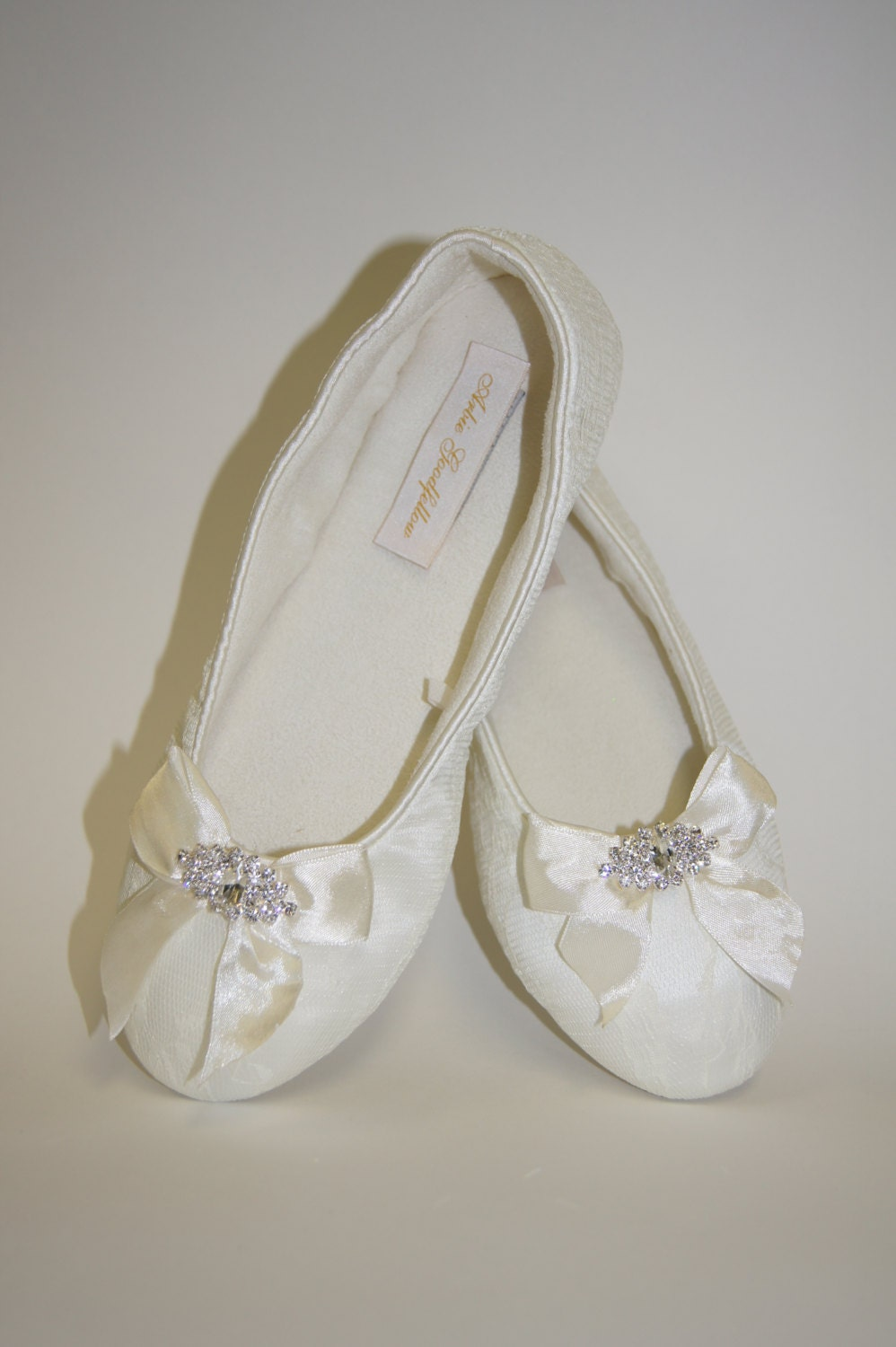 Flat Lace Wedding Shoes Choose From White Or Ivory Lace Flat
