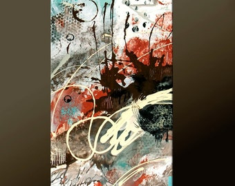 Abstract Canvas Art Painting - Modern Contemporary Original Art by Destiny Womack - dWo - Trials XXI