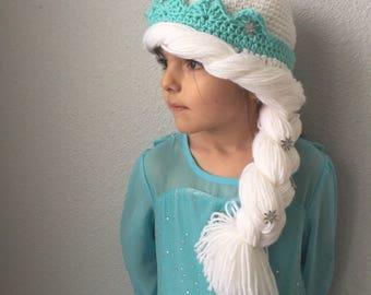 Elsa Hat with Side Braid