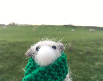Needle felted Cotswolds sheep