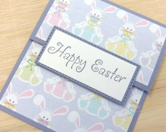 Happy Easter Gift Card Easter Bunny Money Holder With Envelope Pastel Rabbit Card Easter Basket Easter Gift Bunny Card Handmade Envelope