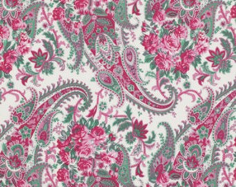 1/2 yd SALE Billet Doux Flora Paisley by Verna Mosquera for Free Spirit PWVM094 Cream