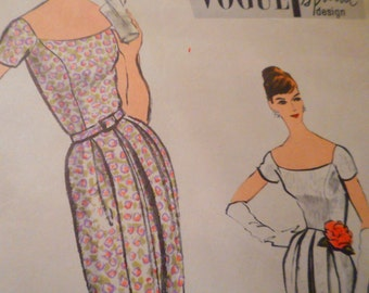 Vintage 1950's Vogue 4848 Special Design Dress Sewing Pattern Size 12 Bust 32