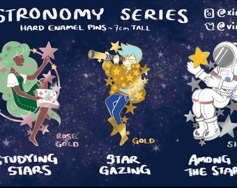 PREORDER Astronomy Starry Enamel Pin Series
