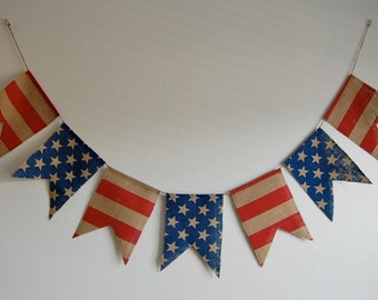 4th of July Patriotic Pendant Banner