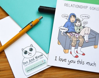 Funny Fart Love Card, I Love You This Much, Relationship Goals, Millennial Dating, Boyfriend Card, Valentines Day Card, Anniversary Card