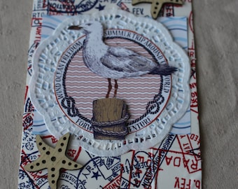 Maritime map with Seagull