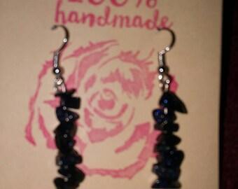 Blue sandstone earrings.