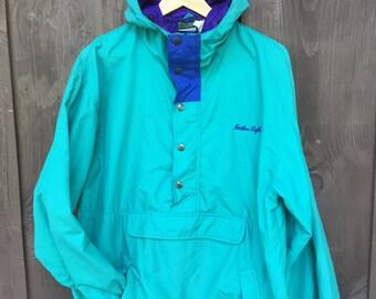 Pull over Jacket half zip Northern Reflections Men's Large Vintage