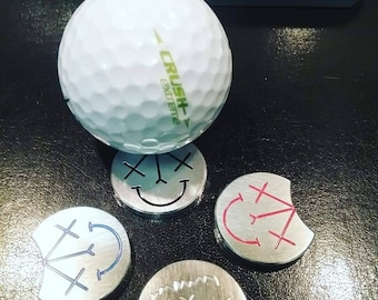 SMILEY golf ball marker made from 6061 aluminum
