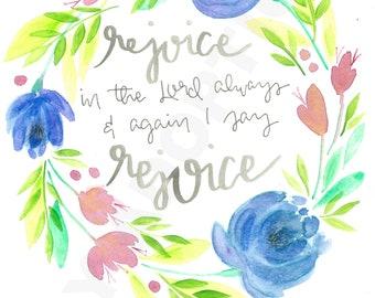 Philippians 4:4 Rejoice digital download