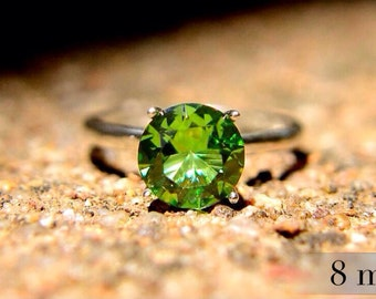 Peridot Ring in Sterling Silver, Bridesmaids Gifts, Engagement Ring, Peridot Birthstone Ring, August Birthstone, Abish Jewelry Works