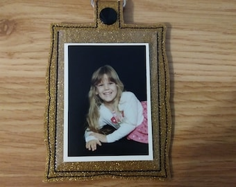 Photo Picture Frame Key Chain Fob