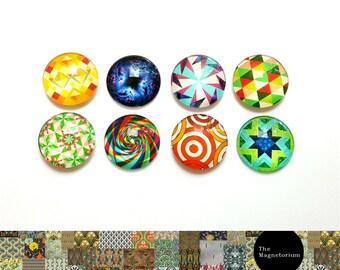 Geometric Magnets [Fridge Magnets, Fridge Magnet Sets, Refrigerator Magnets, Magnet Sets, Office Decor, Kitchen Decor, Magnetic Board]