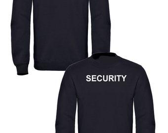 Black Security Sweatshirt