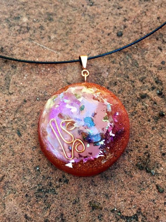 Himalayan Salt Orgone Pendant- Cosmic Creation Orgone Energy Generator necklace- Stress Relief & Grounding Cleansing Orgone Energy Talisman