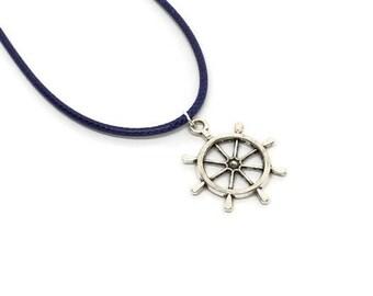 Ship Captain Necklaces Ship Wheel Necklaces Boat Wheel Necklace Nautical Ship Wheel Pendant Party Favor Sailors Party Ideas Pirate Neclaces