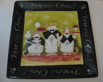 """Meow Chow 13"""" Square Serving Platter"""