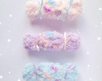 Cute Fluffy Sweet Two Way Hair Clip, Fairy Kei, Sweet Lolita, Yume Kawaii, Jfashion etc inspired