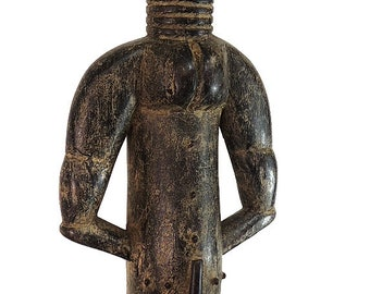 Attye Seated Figure Lagoon Region African Art 22 Inch 78769