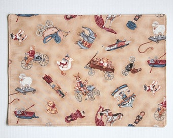 Placemats Antique Toys Pattern